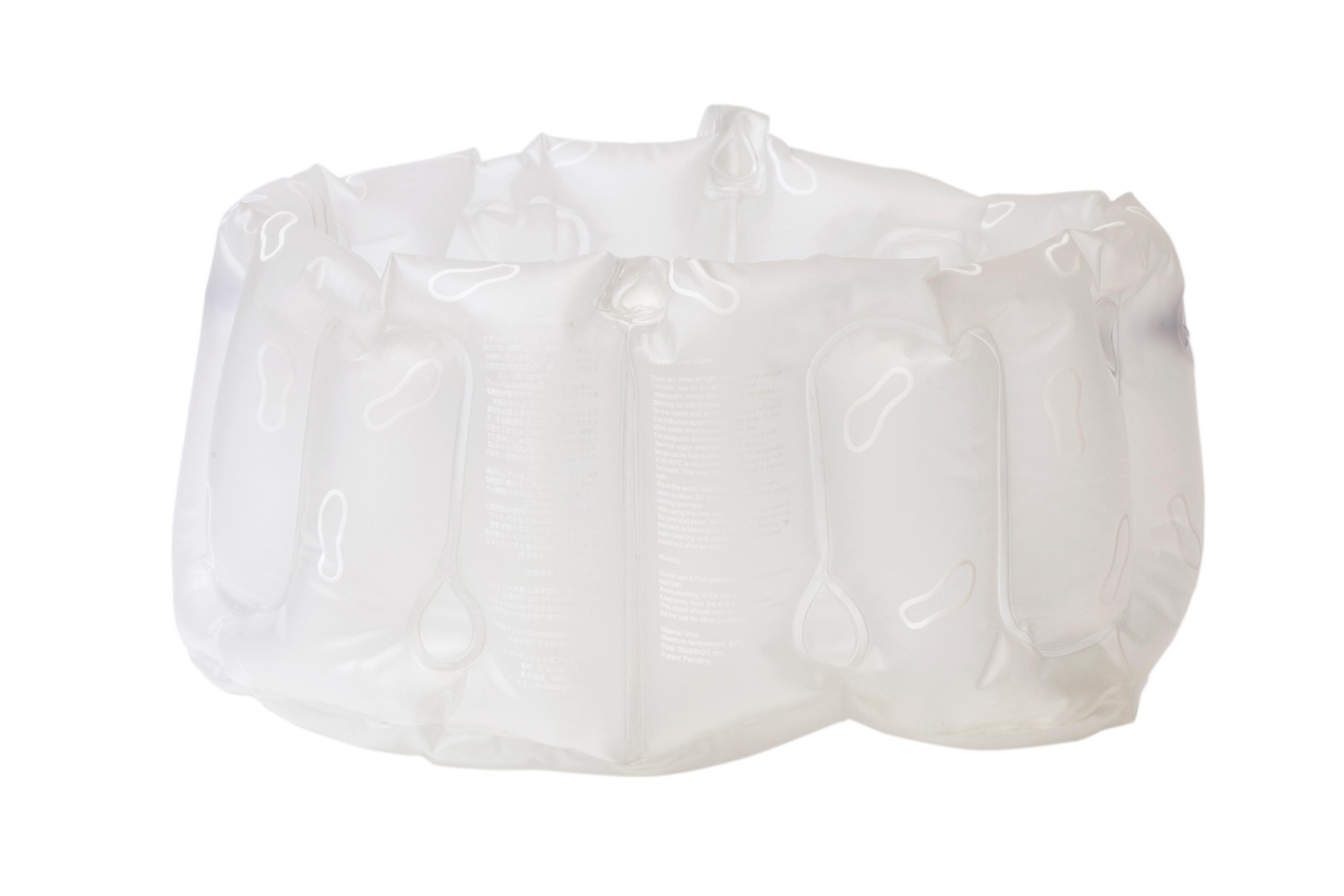 Uppblåsbart Fotbad Med Handtag Frostvitåtervunnen Plast (vinyl) Bosign