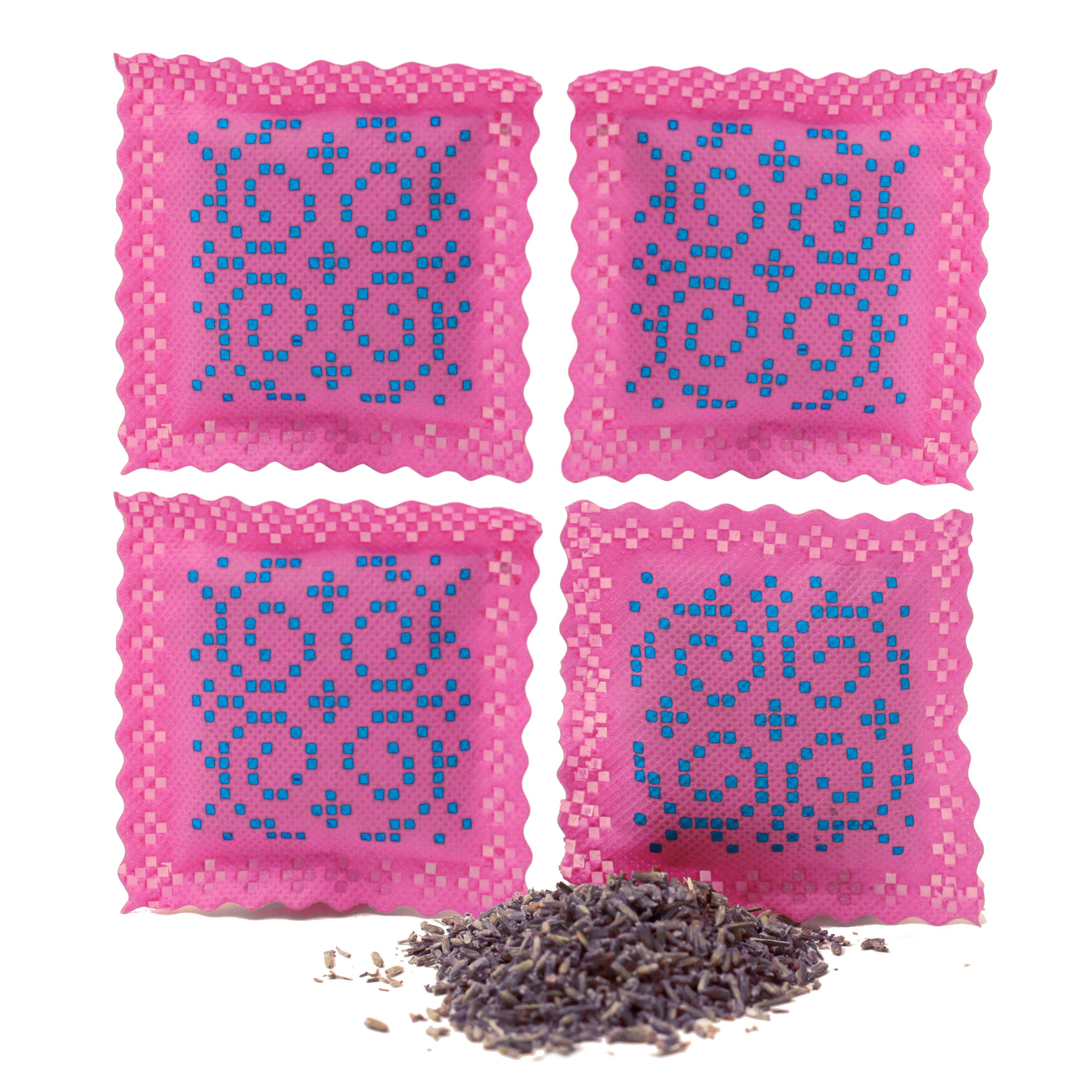 Ekologisk Doftpåse MINI, 4 pack Rosa Blå Non vowen Lavender Bosign