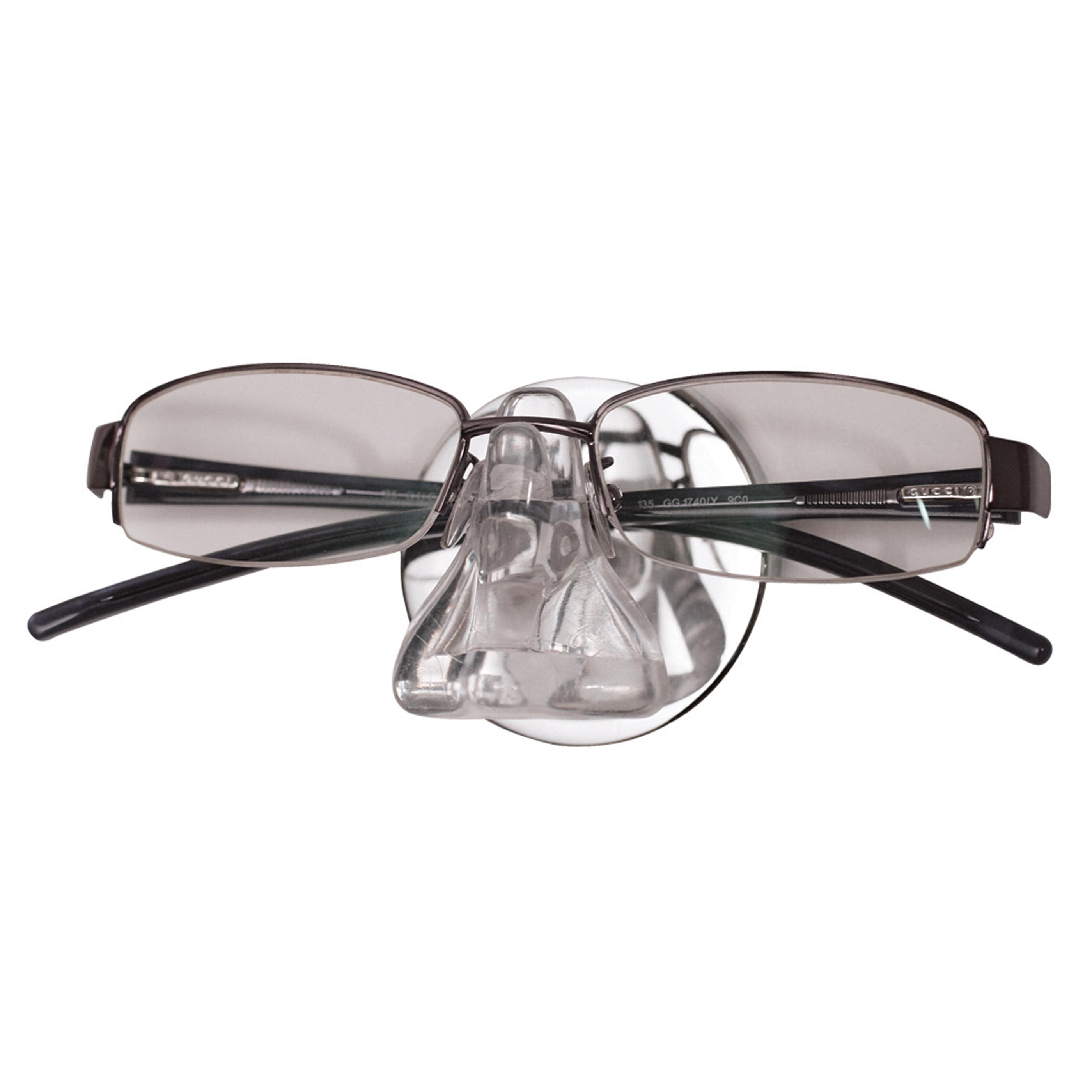 Glasögonhållare Round INVISIBLE Klarplast Polerat stål, dolt sugproppsfäste Bosign