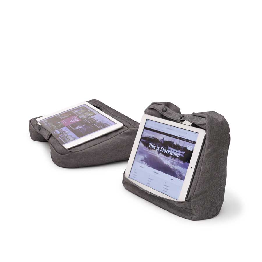 Resekudde Tablet & Travel Pillow 2-in-1    Salt & Pepper Grå