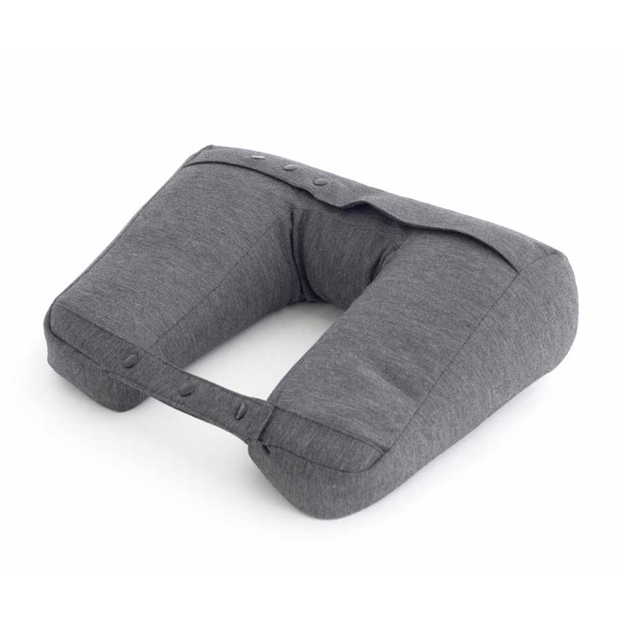 Kneck™ Travel Pillow 3-in-1. Resekudde för laptop, surfplatta & nacke. Comfort Plus.  Salt & Pepper Grå. 33x28x10 cm. Bomullsmix - 8