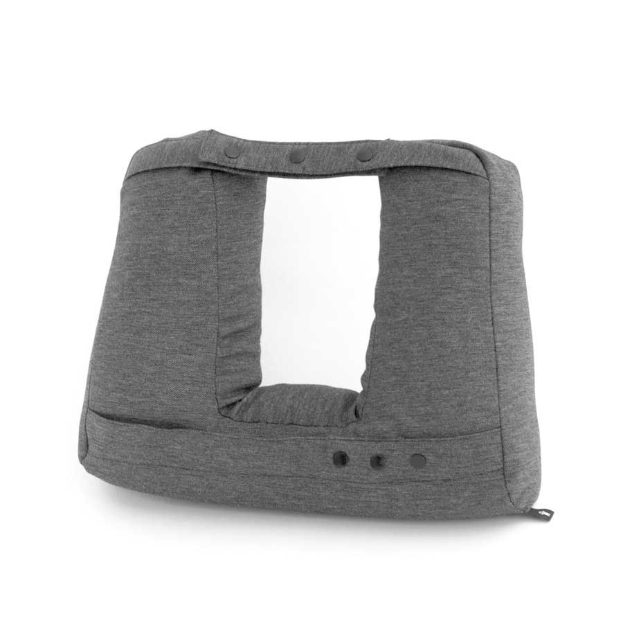 Kneck™ Travel Pillow 3-in-1. Resekudde för laptop, surfplatta & nacke. Comfort Plus.  Salt & Pepper Grå. 33x28x10 cm. Bomullsmix - 9