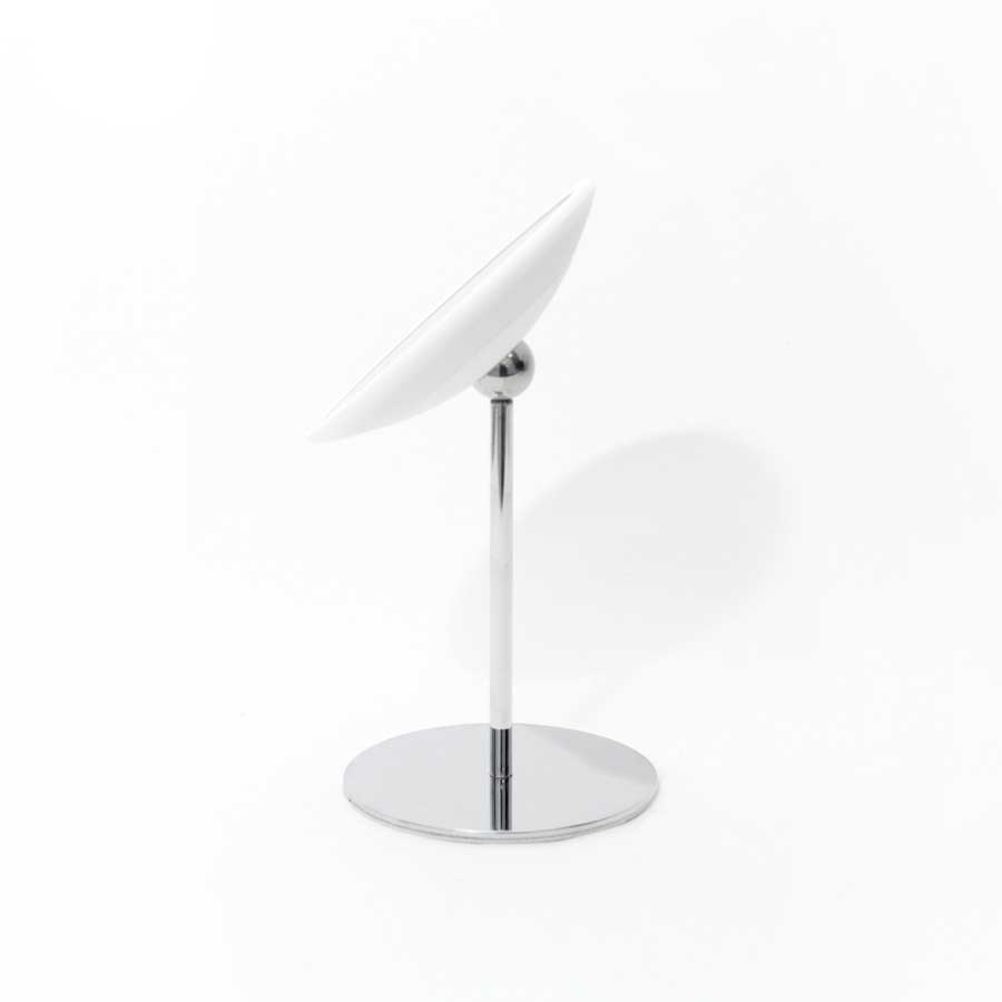 Löstagbar Make-up spegel X10. AirMirror™ Night Stand. Bordsmodell. Vit